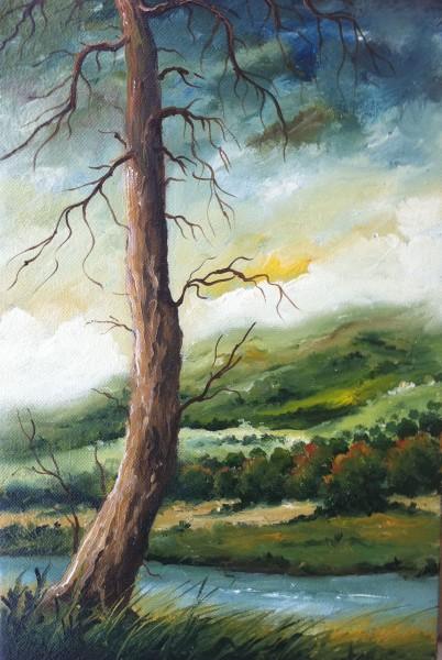 Picturi cu peisaje Copac singuratic