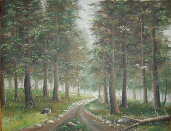 Picturi cu peisaje Drum de padure (1986)