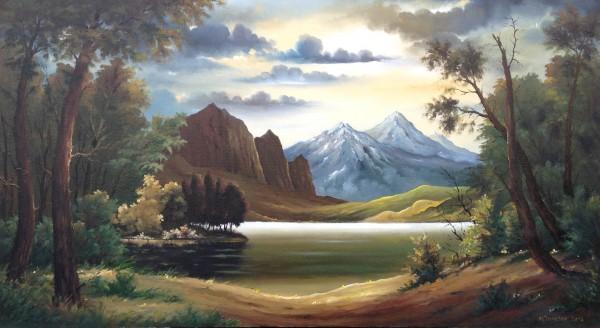 Picturi cu peisaje Iesire la lac
