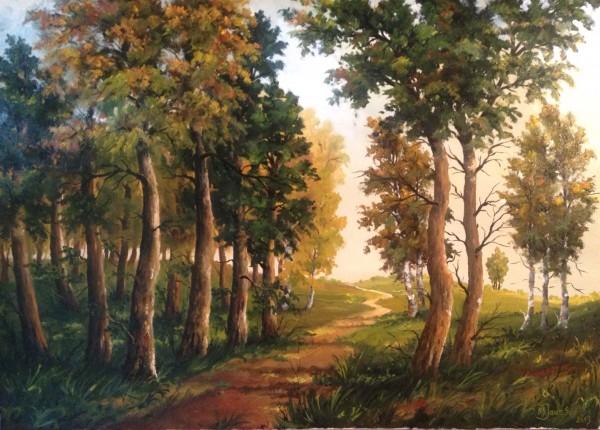 Picturi cu peisaje Inima de codru