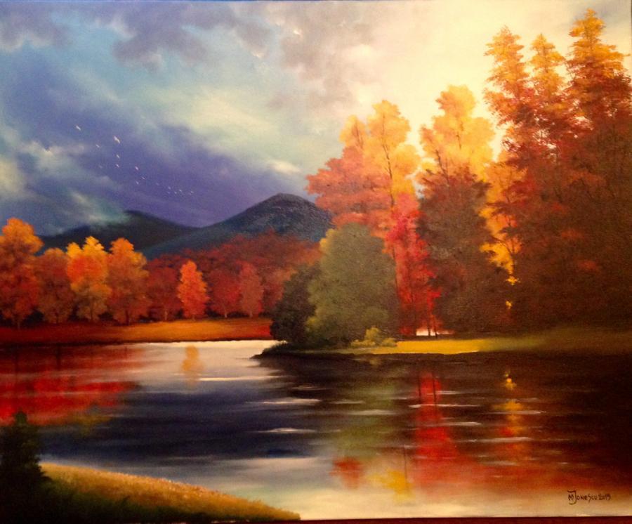 Picturi cu peisaje peisaj colorat 1