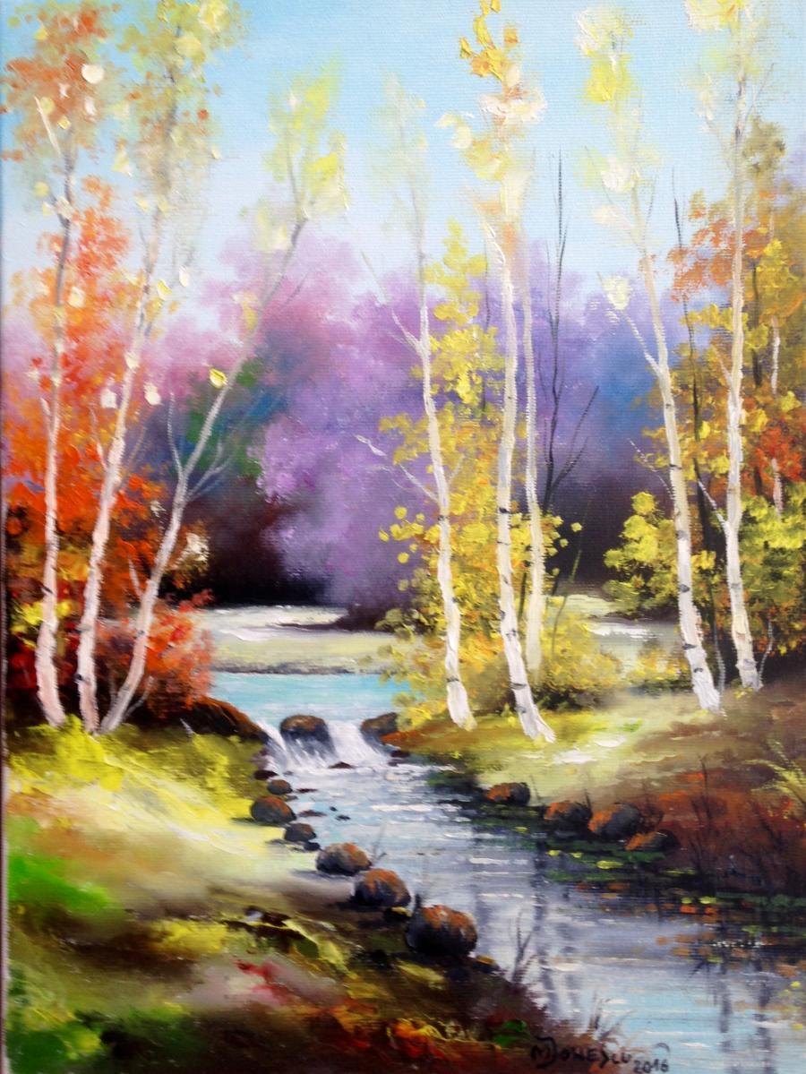 Picturi cu peisaje Peisaj pastelat