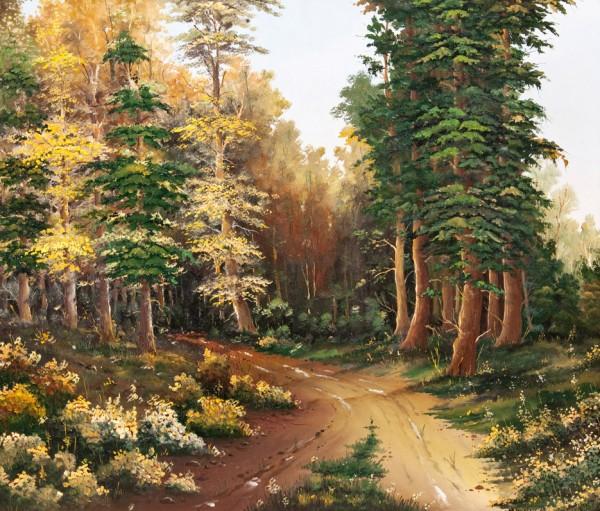 Picturi cu peisaje Spre dumbrava