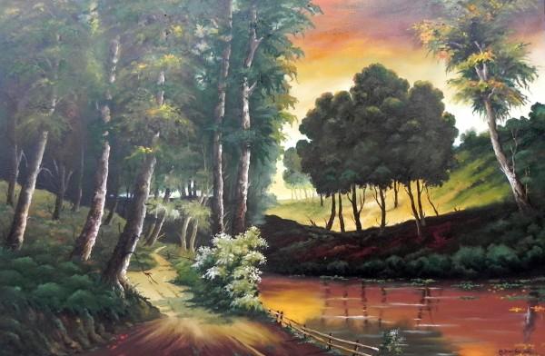 Picturi cu peisaje Spre padure