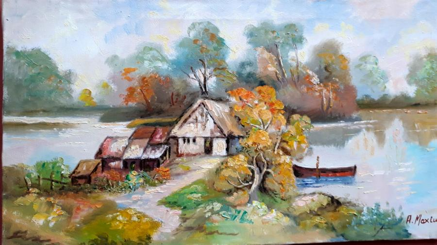 Picturi cu peisaje Delta peisaj1