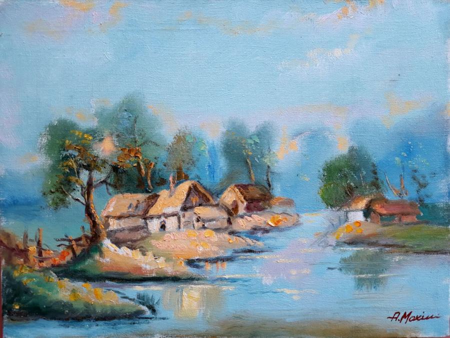 Picturi cu peisaje Delta peisaj3