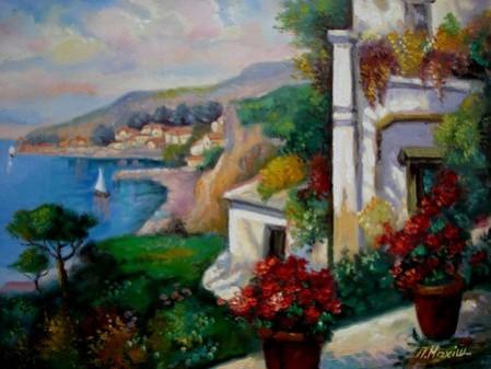 Picturi cu peisaje Tablou peisaj cu flori