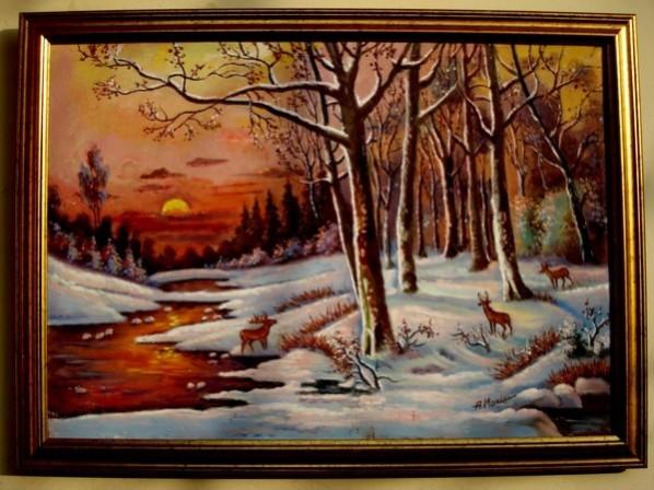 Picturi cu peisaje Tablou peisaj de iarna