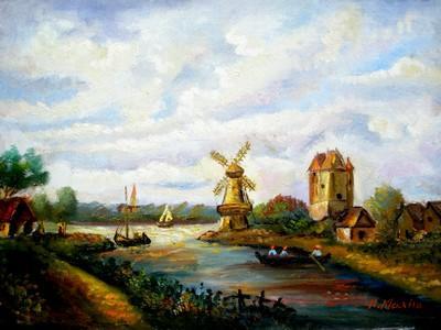 Picturi cu peisaje Tablou Peisaj olandez