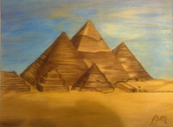 Picturi cu peisaje Piramide