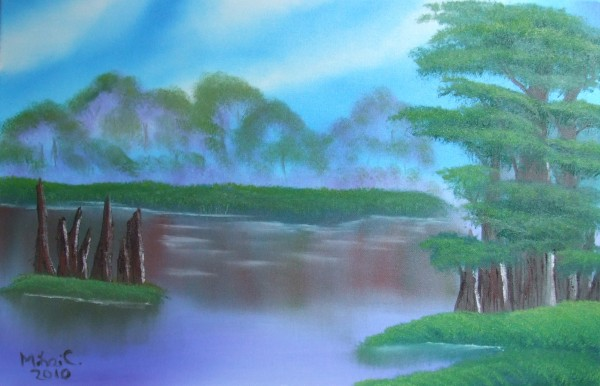 Picturi cu peisaje Chiparosii