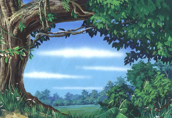 Picturi cu peisaje Copac nebun