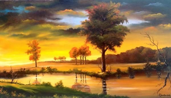 Picturi cu peisaje Apus de soare vara