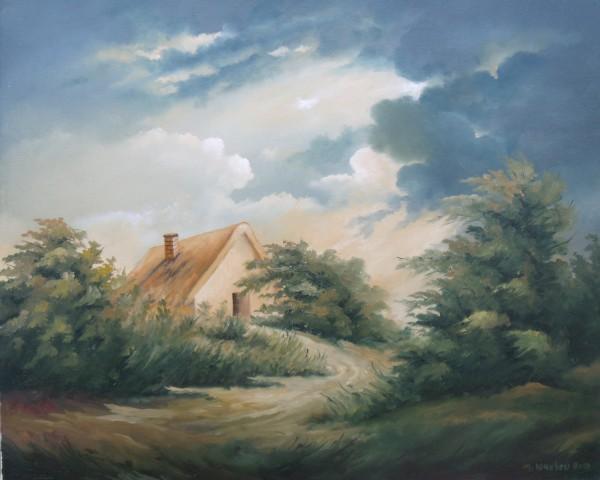 Picturi cu peisaje Casa din padure 2