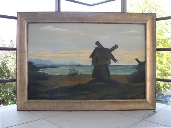 Picturi cu peisaje Moara la mare