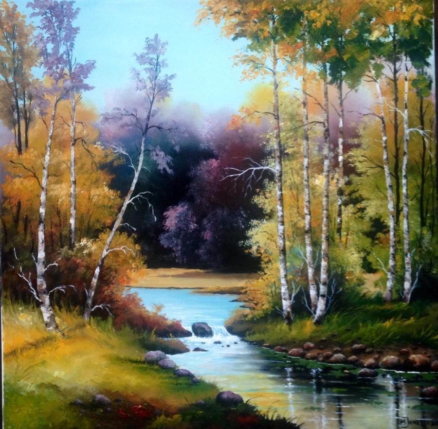 Picturi cu peisaje Peisaj colorat