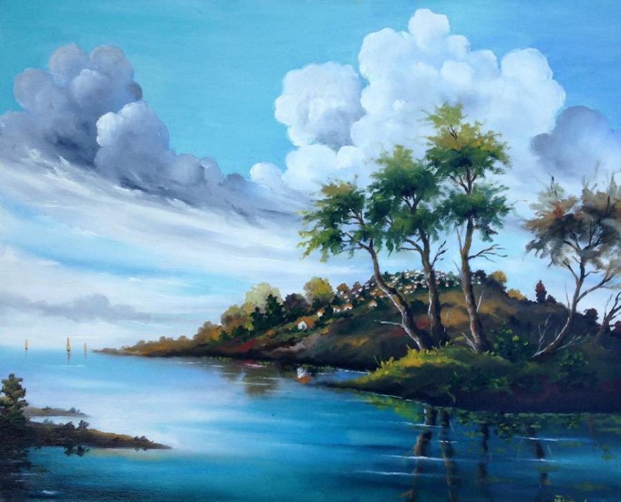 Picturi cu peisaje Peisaj de vara 1