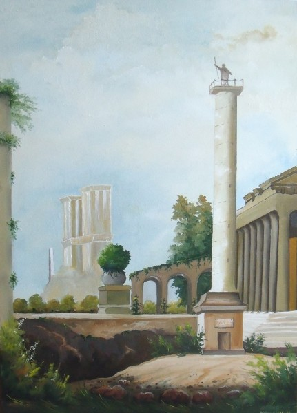 Picturi cu peisaje Ruine romane