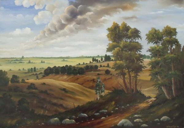 Picturi cu peisaje Sus pe deal