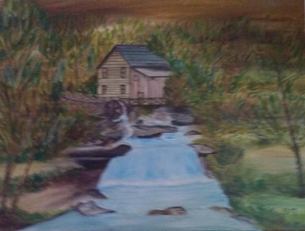 Picturi cu peisaje Moara din padure