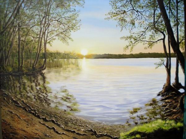Picturi cu peisaje Peaceful lake