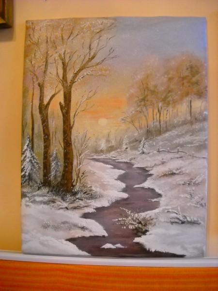 Picturi cu peisaje Iarna