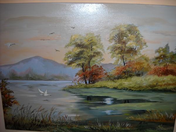 Picturi cu peisaje Lumina pe lac 2