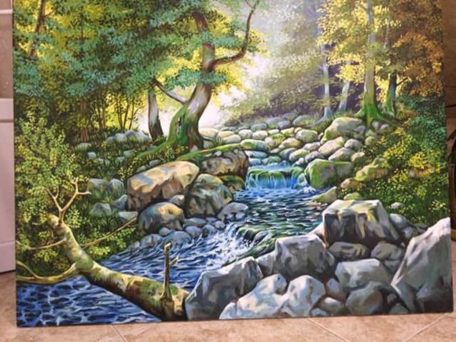 Picturi cu peisaje riul curgator