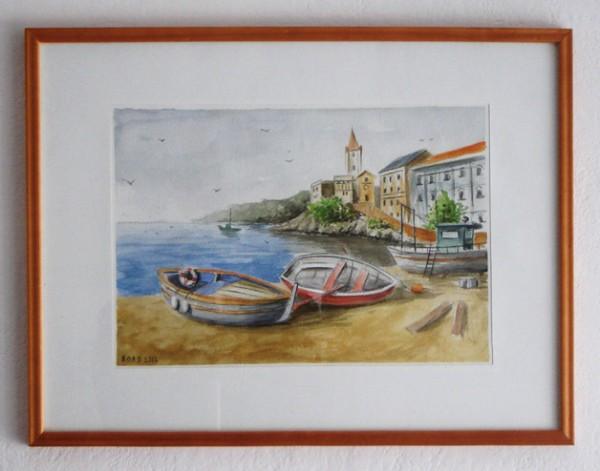 Picturi cu peisaje La malul marii