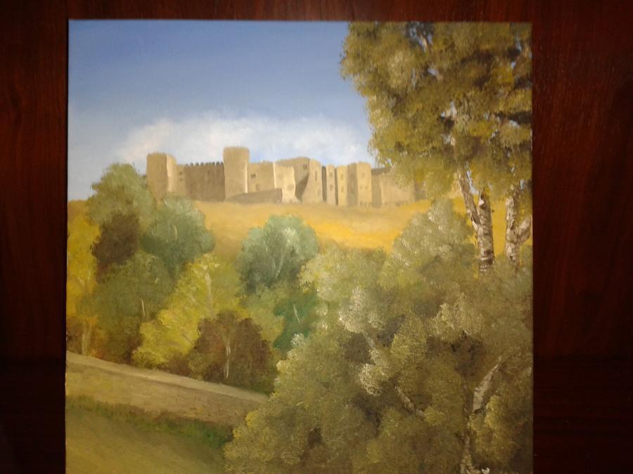 Picturi cu peisaje Castelul din Siguenza 2