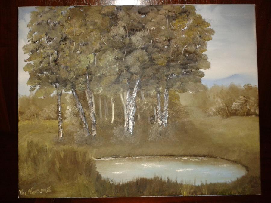 Picturi cu peisaje Vara tacuta