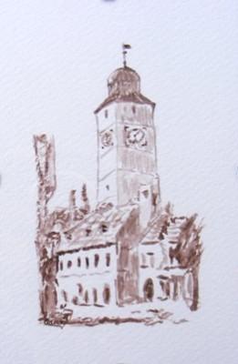 Picturi cu peisaje Turnul sfatului sibiu