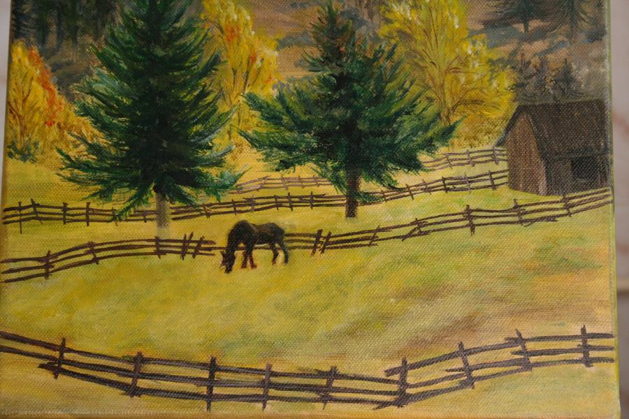 Picturi cu peisaje peisaj de munte 1