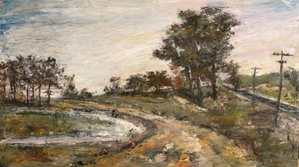 Picturi cu peisaje Langa sat