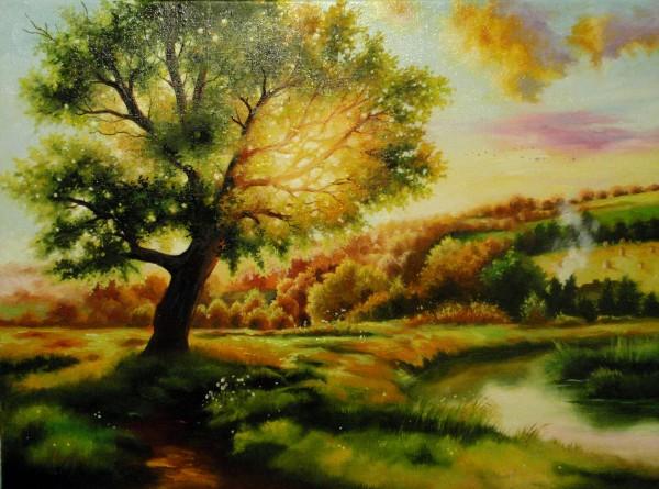 Picturi cu peisaje Apus - 2013