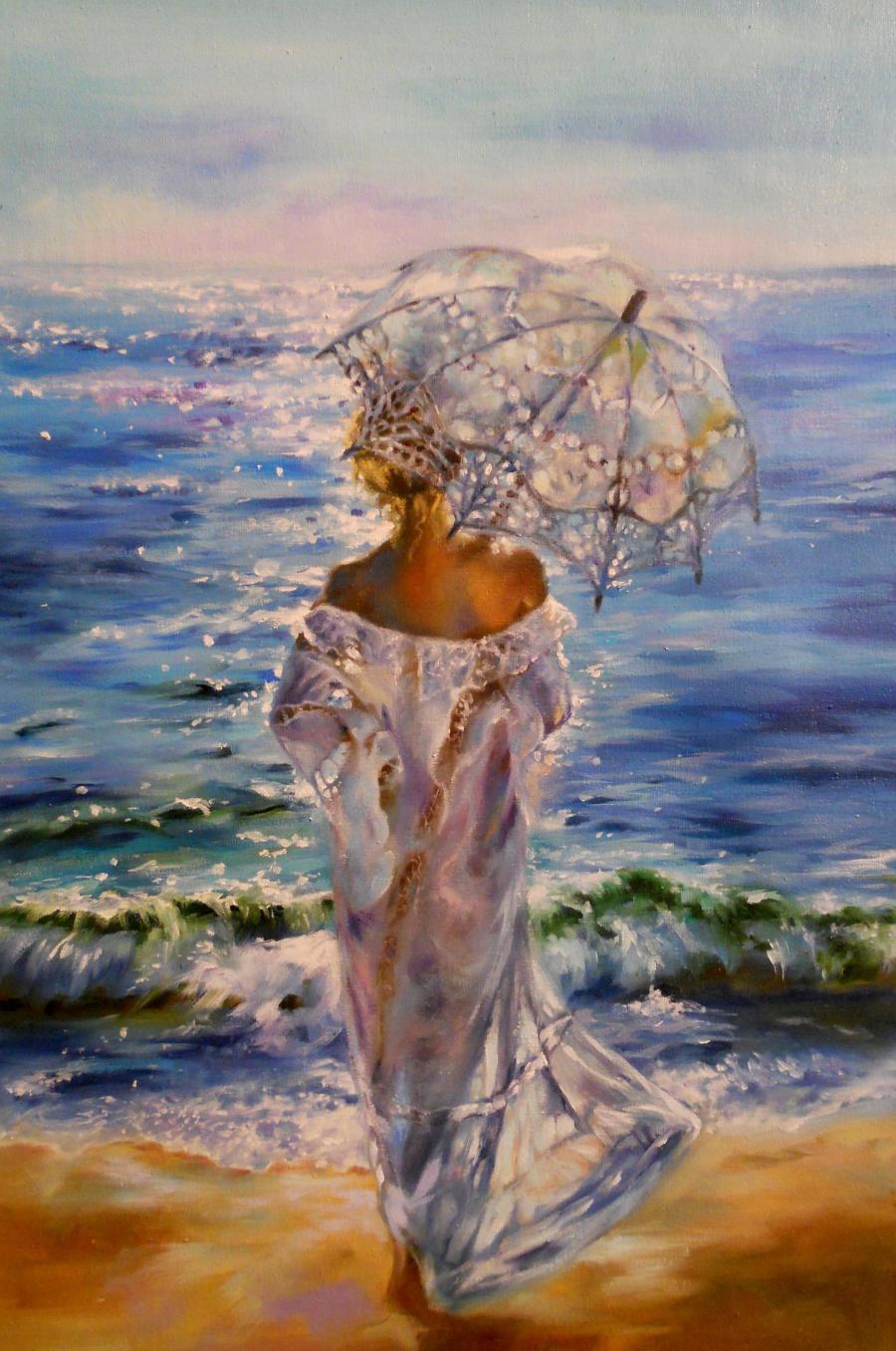 Picturi cu peisaje dimineata , devreme