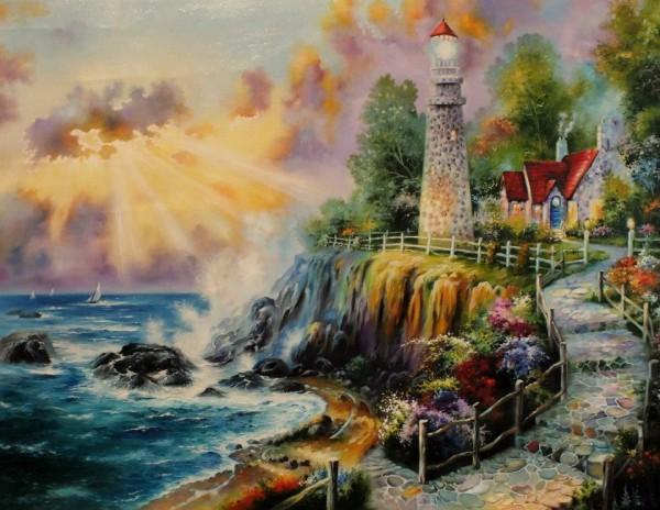 Picturi cu peisaje Light of peace