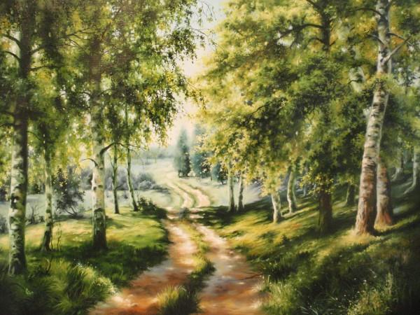 Picturi cu peisaje Pe ulitele satului 3- iesirea din padure