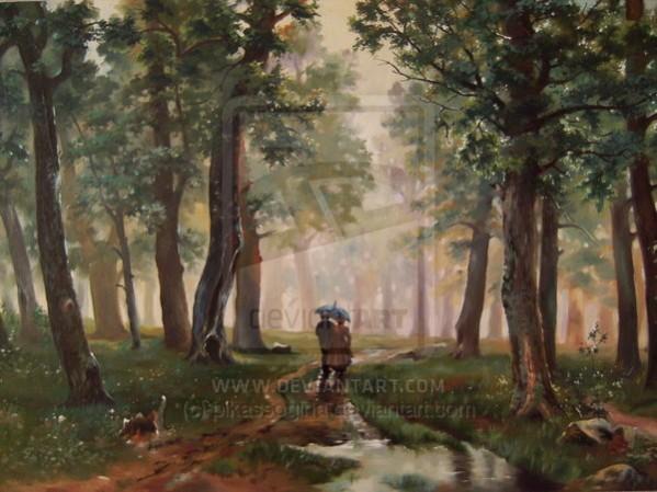 Picturi cu peisaje Ploaia