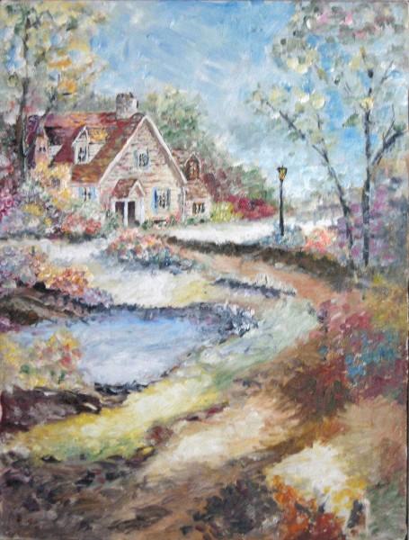 Picturi cu peisaje Casa din povesti