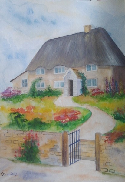 Picturi cu peisaje Old barns