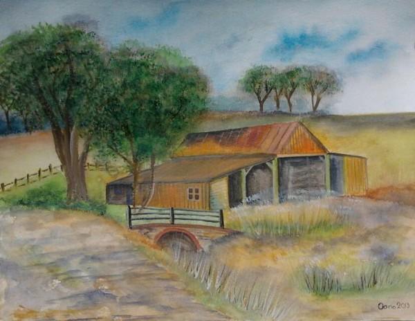 Picturi cu peisaje Old barns 2