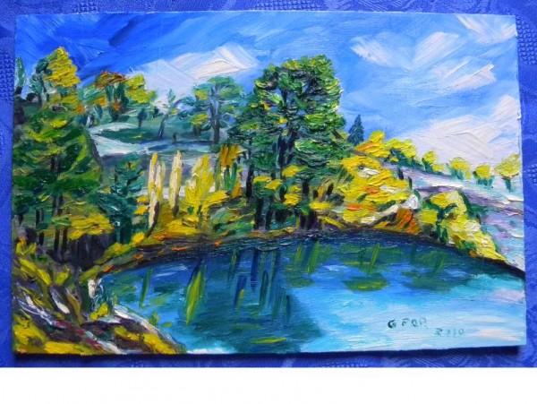 Picturi cu peisaje Peisaj cu lac