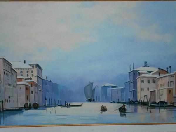 Picturi cu peisaje La venetia pe apa