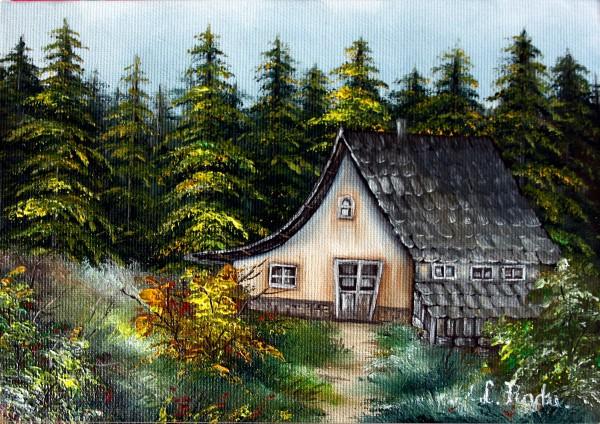 Picturi cu peisaje La cabana