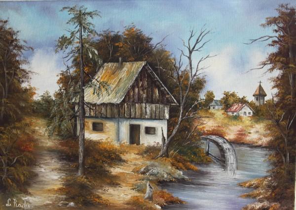 Picturi cu peisaje Moara de apa