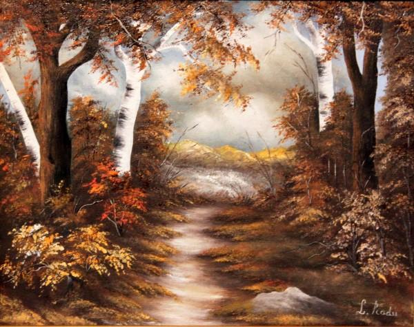 Picturi cu peisaje Peisaj cu mesteceni