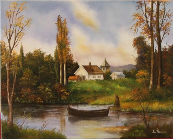 Picturi cu peisaje Vara la tara