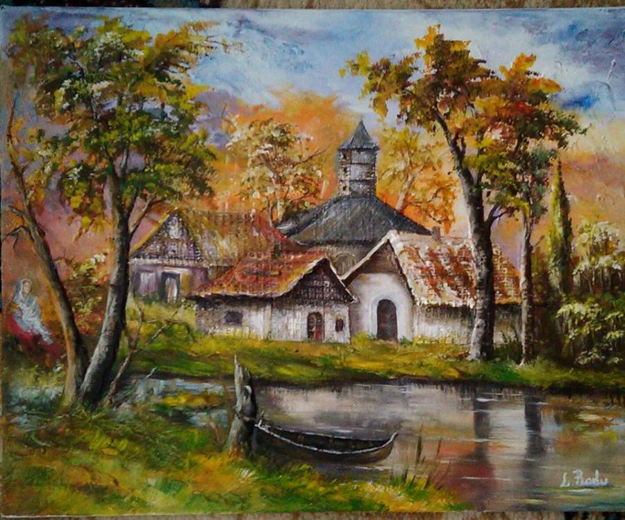 Picturi cu peisaje Viata la sat