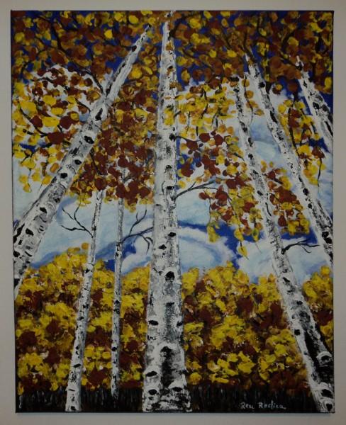 Picturi cu peisaje Padure de mesteceni 2